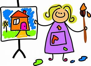 Children Painting Pictures - Cliparts.co