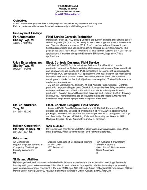 Endoscopy Resume Objective by 100 Instrument Technician Resume Exles Professional