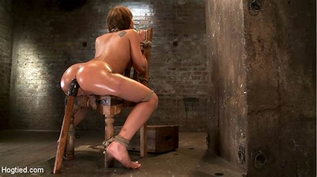 #Amazing #Chick #Bound #And #Drilling