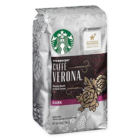 The smell of caffe verona is sure to help coworkers face the challenges of the day. Starbucks® 12 oz. Café Verona Ground Coffee   Bed Bath & Beyond