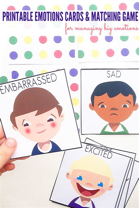 printable emotions cards with emotions ideas 317 | Emotions Cards and Matching Game