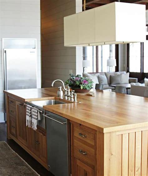 cuisine en ilot ilot cuisine bois dcoration de maison ilot de cuisine fly