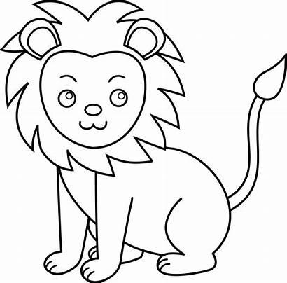 Lion Line Clip Lineart Sweetclipart