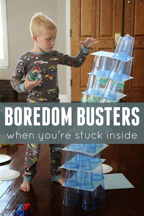 Boredom Buster Indoor Activities For Kids  A Well, Teaching And For Kids