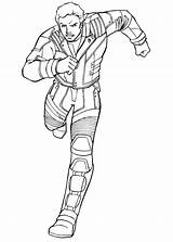 Coloring Quill Peter Galaxy Guardians Pages Printable Lord Gamora Running Star Drax Groot Rocket Ausmalbilder Characters Cartoon Malvorlagen Von Malbuch sketch template