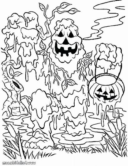 Coloring Halloween Pages Scary Spooky Boys Safety