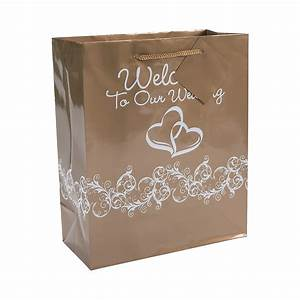 in 13697641 gold two hearts welcome to our wedding gift With wedding welcome gift bags