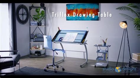 Studio Designs Triflex Sit-to-stand Drawing Table