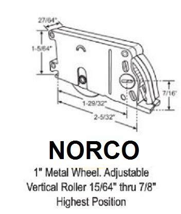 norco hardware parts patio screen door roller assembly biltbest window parts