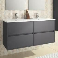 eco line noja 1200 wall mounted 4 drawer double vanity