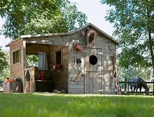 Grande Cabane Enfant : le cabanon de jardin en 46 photos choisir son style pr f r ~ Melissatoandfro.com Idées de Décoration