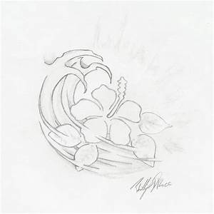 Hawaiian Flower Pencil Sketch by Revolt914 on DeviantArt