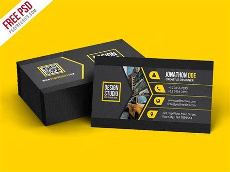 psd creative black business card template psd