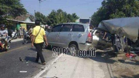kecelakaan bus mira  nganjuk tewaskan    korban