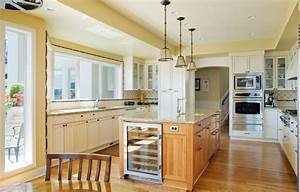 Pendant lighting over island kitchen traditional with