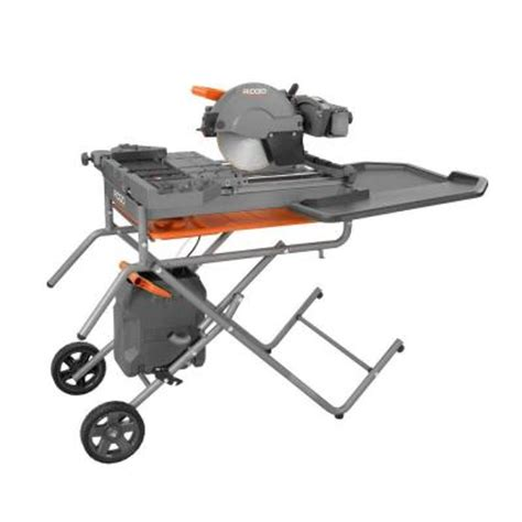 home depot tile saws ridgid 10 in tile saw with stand r4091 the home depot