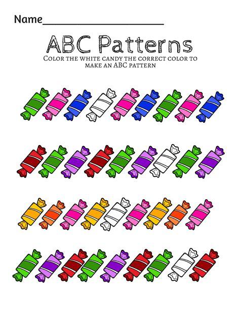 preschool prek math patterns printables math