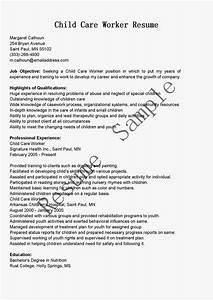 resume samples child care worker resume sample With child care worker resume