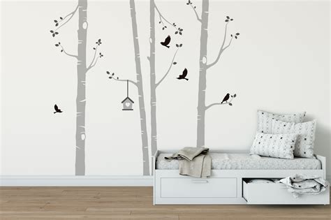 birch tree wall stickers peenmedia com