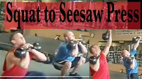 press kettlebell squat seesaw front into