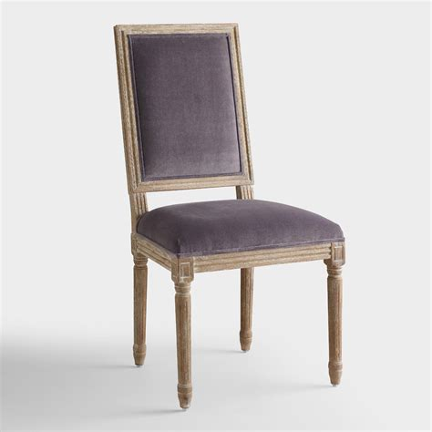plum velvet square back dining chairs set of 2