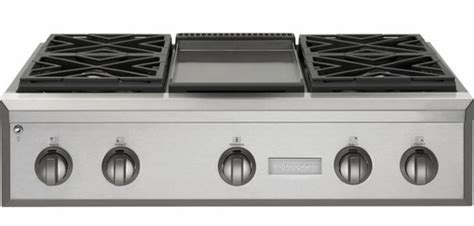zgundpss ge monogram  pro style gas cooktop   burners  griddle natural gas
