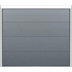 porte sectionnelle velocia sans rainure lisse With porte de garage sectionnelle gris anthracite