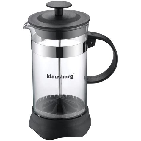 Stainless Steel Press Tea Leaves And Coffee Pot Klausberg