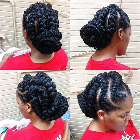 51 goddess braids hairstyles for black women stayglam
