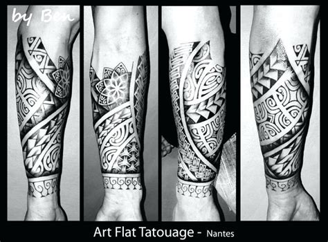 frappant tatouage maorie avant bras homme tatouage
