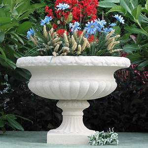 Beautiful, Garden, Urn, Made, In, America, Sandstone, Landscaping, Pottery