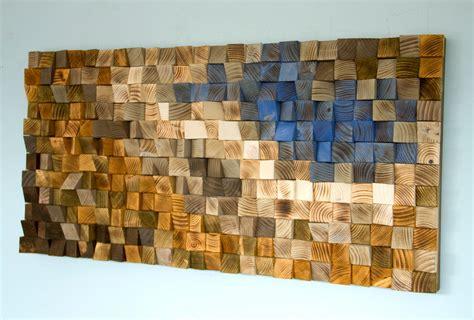 mosaic wood reclaimed wood wall art wood mosaic geometric art wood wall art quot fighting river quot art glamour