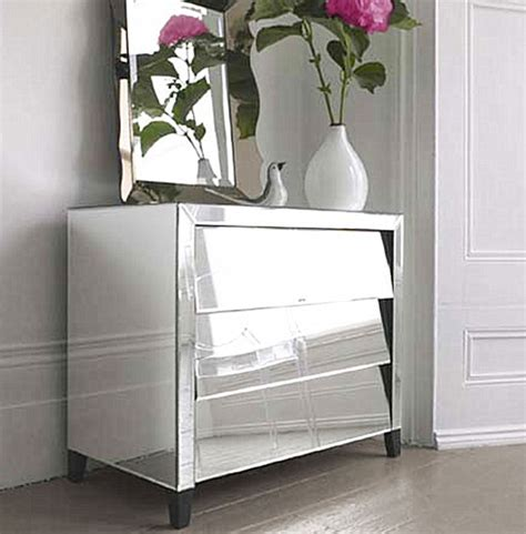 Hayworth Mirrored Dresser Antique White by Image Gallery Mirrored Chest