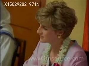 Princess Diana in Calcutta, India - YouTube