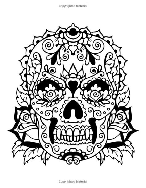sugar skull coloring book 113 best sugar skulls coloring pages images on