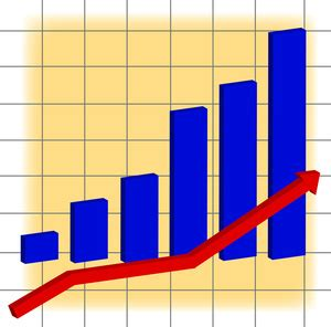 Graph Clipart Chart Clipart Image A Bar Graph And A Arrow Showing