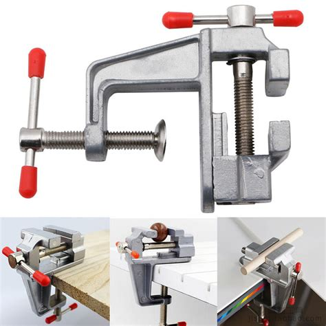 mini aluminum  small jewelers hobby clamp  table