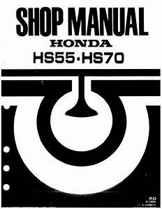 Honda Snowblower Repair Manual Hs50 Hs55 Hs70 Hs80 Track