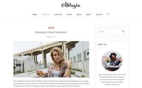 Personal Blog Website Template #65325