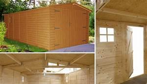 garage bois traite en autoclave brun classe iii nelson With garage en bois autoclave