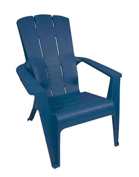 gracious living adirondack contour chair blue the home