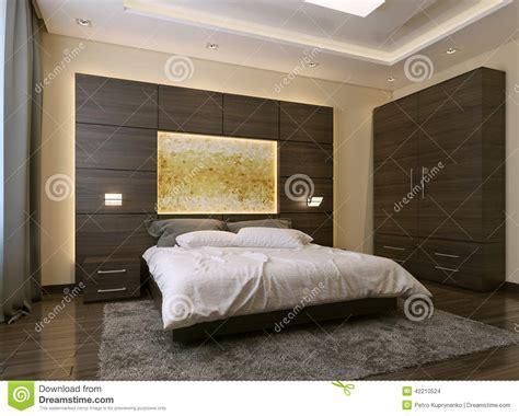 couleur de chambre a coucher moderne style moderne de chambre à coucher illustration stock