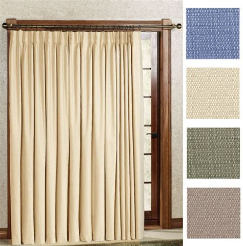 Patio Thermal Drapes - new crosby pinch pleat thermal patio panel 96 wide by
