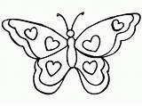 Butterfly Coloring Pages Printable Butterflies Filminspector sketch template