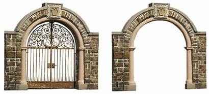 Arch Archway Iron Architecture Isolated Goal Pixel