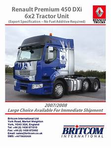 Renault Premium 450 Dxi Brochure Layout Britcom Version