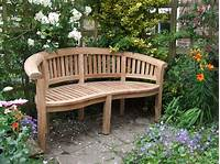 inspiring creative patio design ideas Concrete Garden Benches Inspiration Furniture Natural Look Wooden Curved Backseat Garden Bench ...