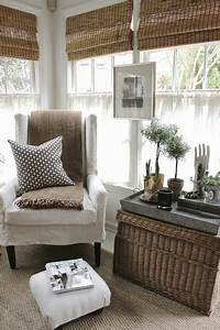 Reading, Area, In, Back, Corner, Of, Room, And, Rattan, Bamboo, Blinds, In, 2020