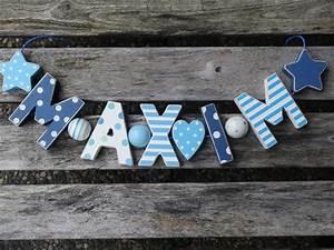Buchstaben Deko Kinderzimmer : maxim namenskette shabby chic holz buchstaben holzbuchstaben taufe deko kinderzimmer ~ Orissabook.com Haus und Dekorationen