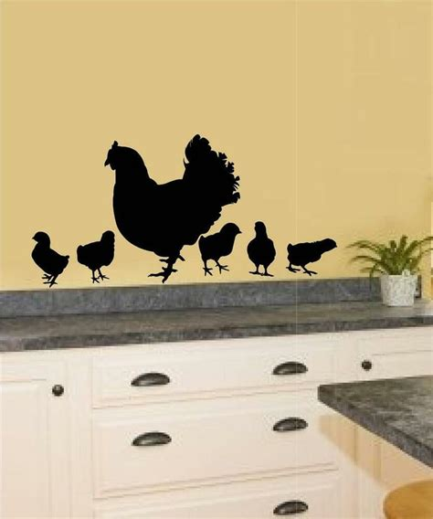 Home Decor Decals by Chickens Hen Baby Vinyl Decal Wall Sticker Word